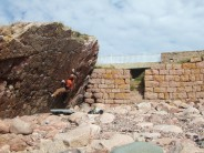 Neptunes Kiss font 6b+ Lighthouse Wall  Buchan Ness