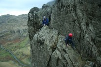 Jowen and Lee finishing Flying Buttress.
