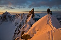 On the Kuffner at sunrise with an inversion just below
