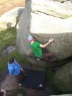 Liam Copley on Huggy Sit Start Font6a+/6b