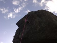 My Three year old daughter at the top of Suspension Flake and smiling her head off!