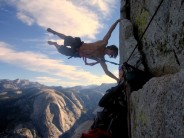 On day 3 of the Regular NW Face Route on Half Dome