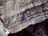 Helmet and trainers, unusual attire for the exposed Fairyhole traverse<br>© Doug's camera - unknown