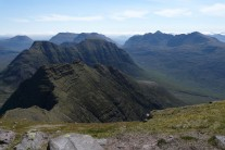 Horns of Alligin, Beinn Dearg, Beinn Eighe and Liathach from Beinn Alligin