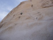Dave Musgrove Jnr, The Gunslinger, North Astro Dome, Joshua Tree. Climbed with the old man.