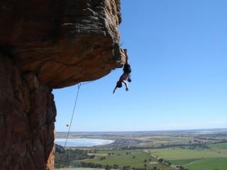 Dan Varian hangs out on Kachoong 21 Arapiles Australia