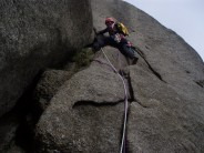 "Arran South Ridge Direct Cir Mor ""Kenny Kennworthy when he used to climb"""