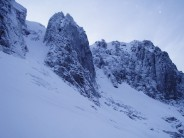 Coire an Lochain - looking towards Number 3 and Number 4 Butresses