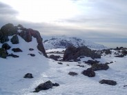 Great End summit after climbing Central Gully - looking towards Scafell Pike