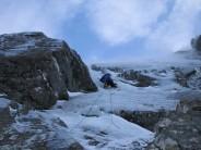 Climber: Tony Shepherd. Pitch 3 Diana V 5***, Ben Nevis