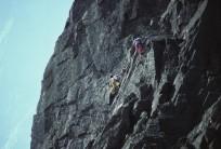 Climber: Tony Shepherd and Cliff Fanshawe. The Cumbrian E4/5 6b***, Esk Buttress