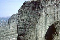 Climbers: Tony Shepherd and Robert Karlac, Hypotenuse Direct VI***, Meteora, Greece.
