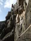 """""""I always hang my wires out to dry mid-pitch"""". On The Beastly Traverse (VDiff), Swanage"""