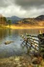 Harrison Stickle across Blea Tarn
