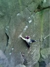 Justin Critchlow repeating  Against The Grain (E6 7a**), Roaches Lower Tier