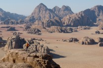endless sandstone: the view from Jebel Burdah, Wadi Rum, Jordan