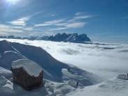 Ski mountaineering dolomites