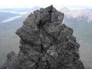 The abseil on Pinnacle Ridge