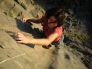 Climbing at Trowbarrow