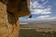 Duncan Campbell on Kachoong, 21, Mt Arapiles<br>© Dominique Houyet