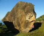 Bouldering on 'Barry' at Ravensdale<br>© Dave Warburton