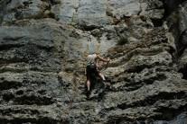 Roger climbing Indian Summer