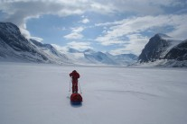 The start of the Akshayuk Pass,   Auyuittuq national park, Baffin Island