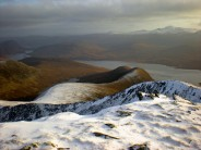 Looking over Loch Monar from summit of Bidean an Eoin Deirg