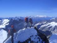 Summit crest of Gross Grunhorn