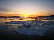 Sunset in the Canadian Arctic