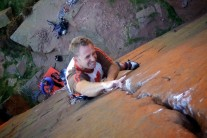 """Don't Stop Now!"" Dave Turnbull reaches the final crux on London Wall"