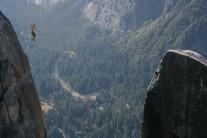 Walking the line. Lost Arrow Spire, Yosemite.