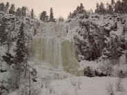 Ruskeavirta in Korouoma, Finland. Mayby WI4ish icefall, about 60 to 70 m high.