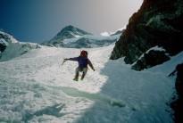 Descending off Broad Peak, Karakorum