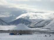 Summer snow, Altai Tavan Bogd, Mongolia
