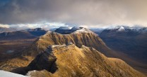 the horns of Alligin and Beinn Dearg