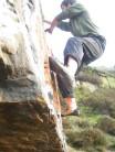 Bouldering at Crossland Moor Quarry
