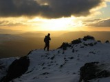 On Garbh Bheinn after climbing the Great Ridge<br>© Mike Pescod