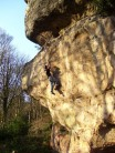 Jon Clark highball bouldering on Thumbelina, Font 7a+, Ina's Rock