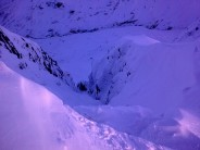 Looking down Dollywaggon Gully