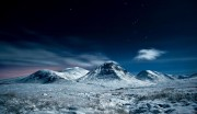 Creise, Stob a' Ghlais Choire and Meal a' Bhuiridh, Glencoe.Under moonlight and the constellation of Orion.<br>© Sean Bell