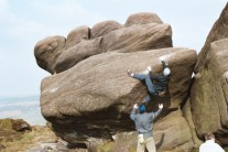 Bouldering at the roaches