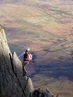 Tom on Nor Nor Buttress, Tryfan