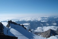 View south from the summit of Gran Paradiso, Italian Alps