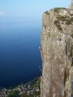 Between the Sun and the Sea -   unknown climbers on Hallowe'en Arete