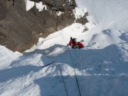 Second steep pitch.