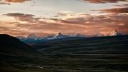 Sunset on the Cordillera Huayhuash, seen from Hatun Machay, Peru.<br>© Alex Buisse