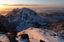 Sunrise from Sgurr Sgumain, 7-15am 2 March 2010