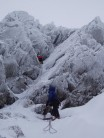 Rescue Grove, a cracking looking line which was in great nick.  The Climbers in the photo climbed it just after us.