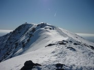 Looking back at Coniston Old Man from Brim Fell, after climbing summit route.